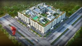 3D Architectural Visualization for the commercial apartment with 3D Interior Designing and Landscape Designing.