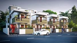 3D Architectural Rendering For Row House Project