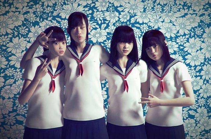 Asian school girls pack