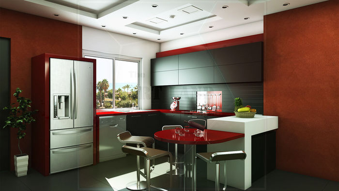 Kitchen design and 3d visualization for Kitchen design visualiser
