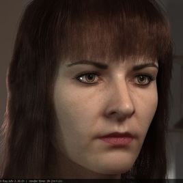 Making 3d model realistic female head :)