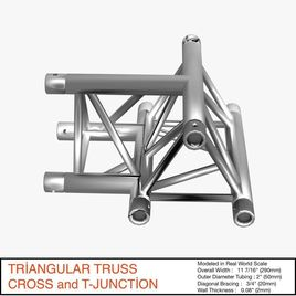 Triangular Truss Cross and T Junction 084