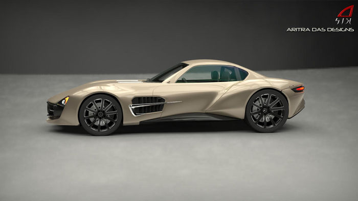 Future mercedes benz mclaren slr amg gt concept cgtrader for Upcoming mercedes benz models