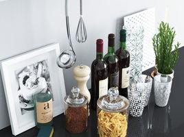 Set decor for the kitchen