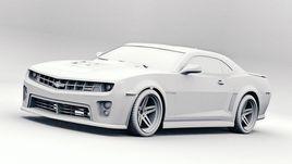 Chevrolet Camaro ZL1 Clay render
