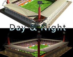 Stadium Level 4 Day-Night 3D Model