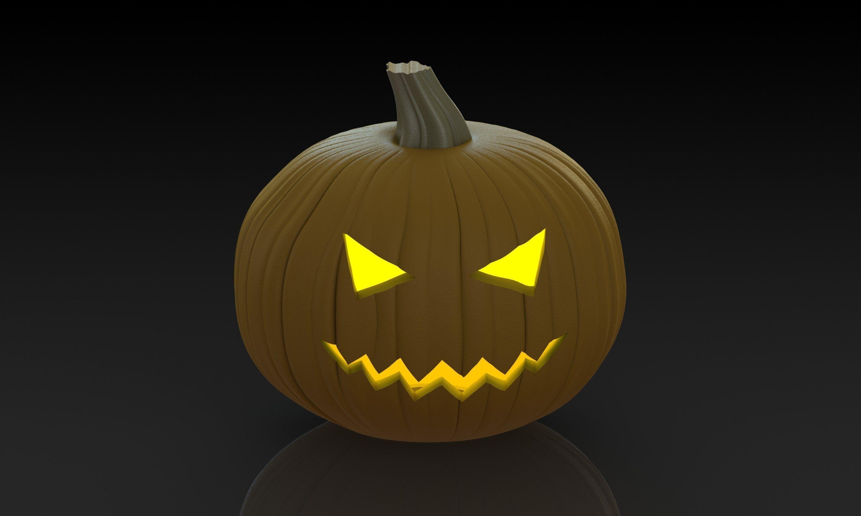 Pumpkin carving free d model stl sldprt sldasm slddrw