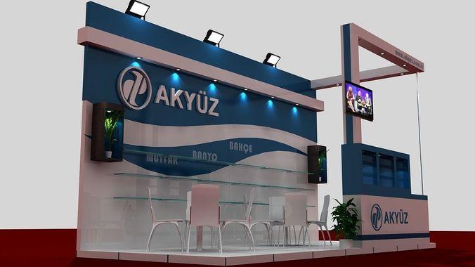 Akyuz Exhibition Stand3D model