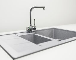 Sink and faucet UE4 3D