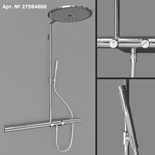 axor shower solutions showerpipe 800 3d model max obj mtl 1