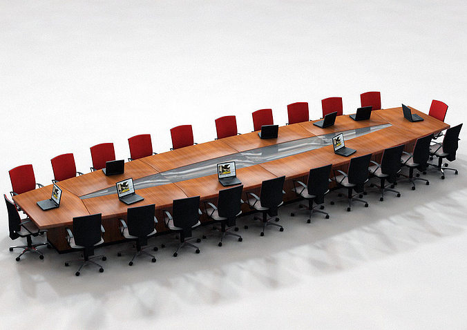 Office Conference Table 3d Cgtrader