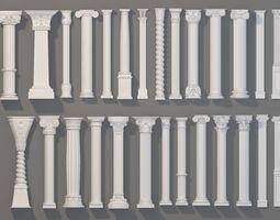 3D model Columns Collection -1 - 27 pieces