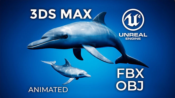 Dolphin Animation Pack - UE4 3ds Max