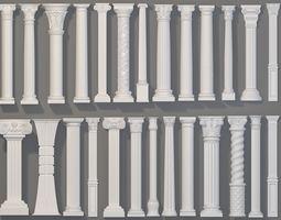 Columns Collection -2 - 26 pieces 3D