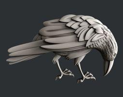 3d STL models for CNC raven various