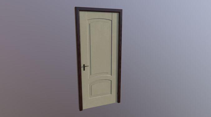 door and look wood model 3d model fbx dae 1