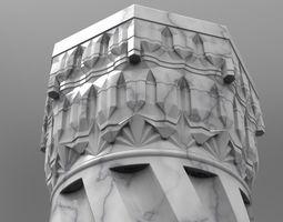 3D model ancient column ottoman column muqarnas column
