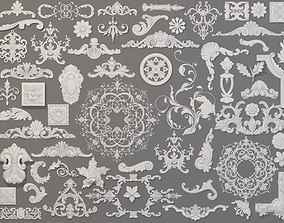 3D model Carved Elements Collection -1 - 59 pieces