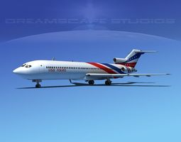 Boeing 727-200 USA Tours 3D model