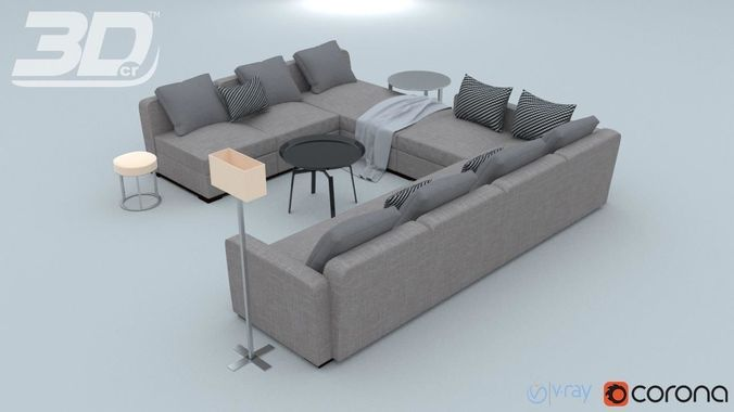 Marvelous Lassrim Corner Sofa Set 3D Model Cjindustries Chair Design For Home Cjindustriesco