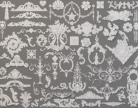 3D model Carved Elements Collection -2 - 59