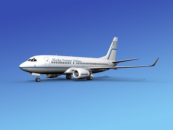 boeing 737-700er alaska frontier  3d model max obj mtl 3ds lwo lw lws dxf stl 1