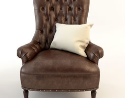 Armchair Tufted Leather 3D model