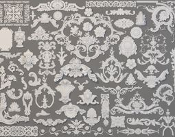 3D Carved Elements Collection -5 - 58 pieces