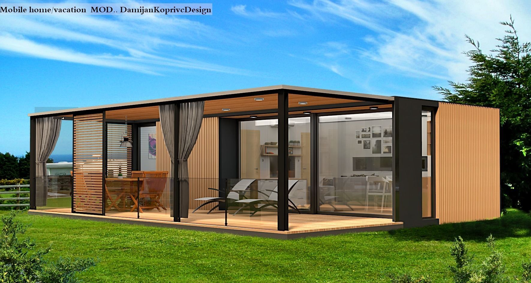 mobile home tiny house  3d model