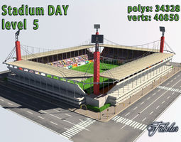 Stadium Level 5 Day 3D Model