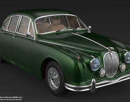 realtime 3D Jaguar MK2 1963 Series Car Model
