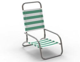 Beach Chair metal 3D model