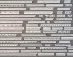 element Cornice Collection -3 - 63 pieces 3D