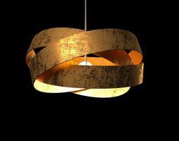 3D model Pura Suspention golden lamp