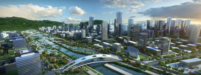 modern city animated 041 3d model max tga pts 1