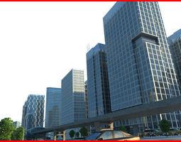 3D Modern City Animated 044