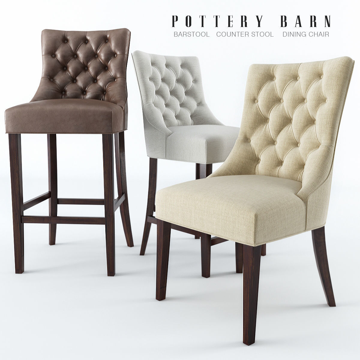 Chairs Pottery Barn | 3D model