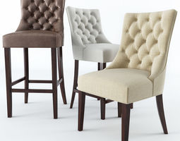 3D model kitchen Chairs Pottery Barn & Pottery Barn Collection of Chairs 3D model | CGTrader