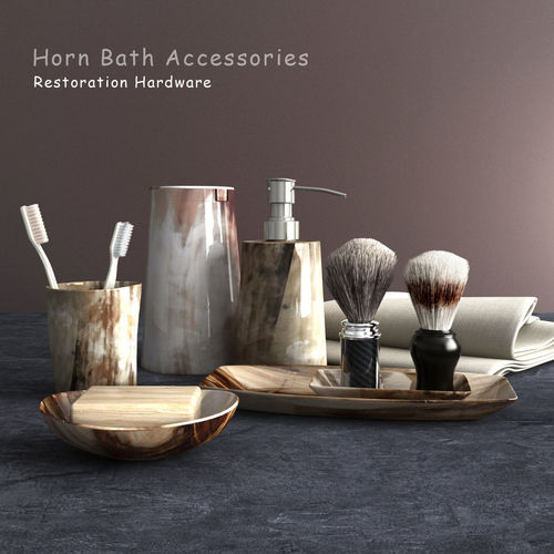 bathroom accessories 3d model max obj mtl fbx 1