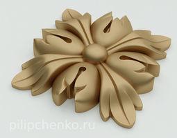 Decor architectural rosette 3d print model 3dprint