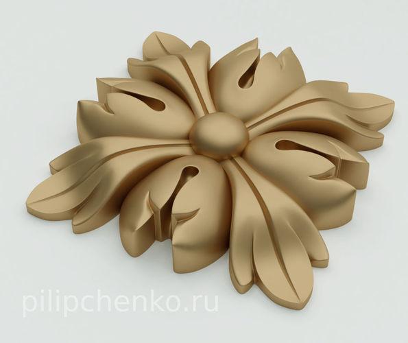 decor architectural rosette 3d print model 3d model obj mtl stl ply 3mf 1