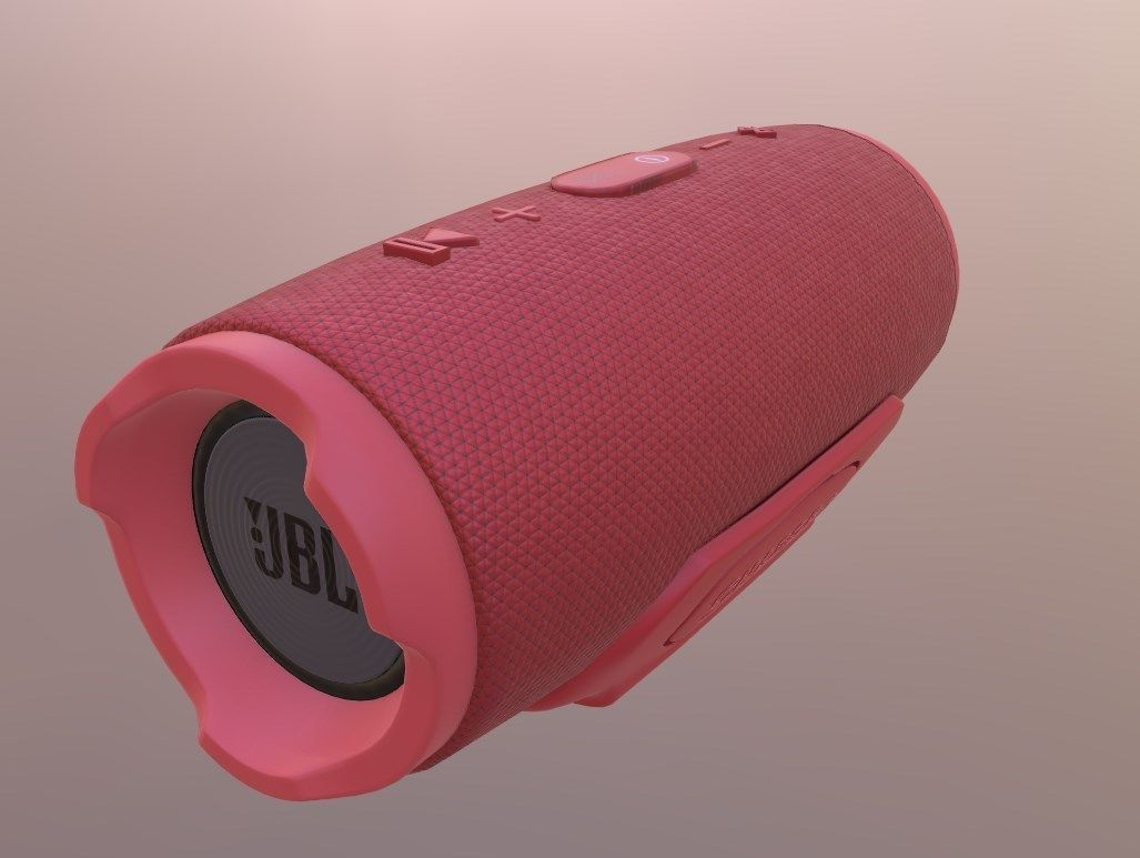 JBL - CHARGE 3 PORTABLE BLUETOOTH SPEAKER - RED | 3D model