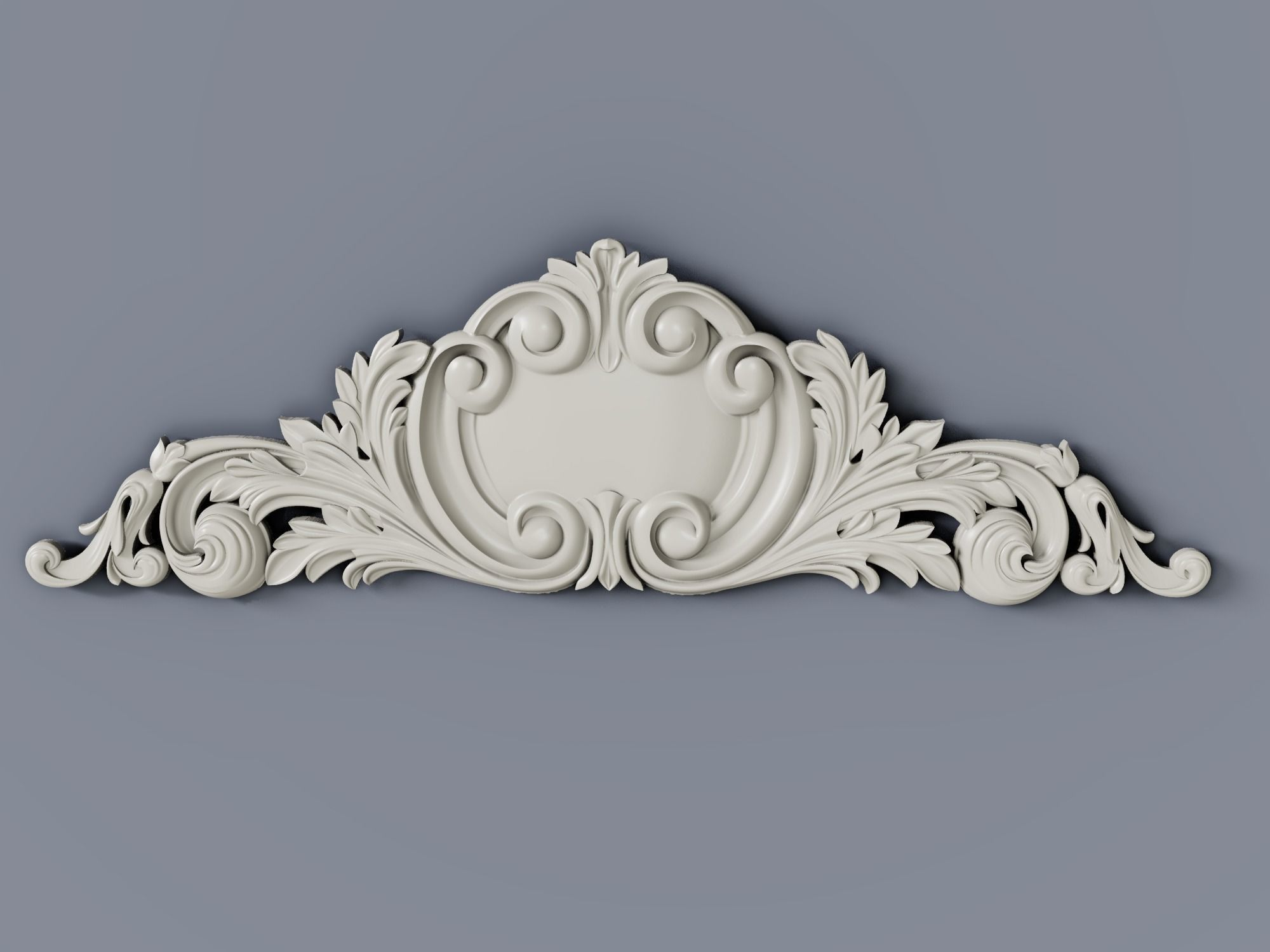 Classic baroque cartouches element  012