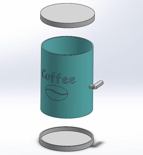 coffe dispencer for moka pot 3d model stl 1