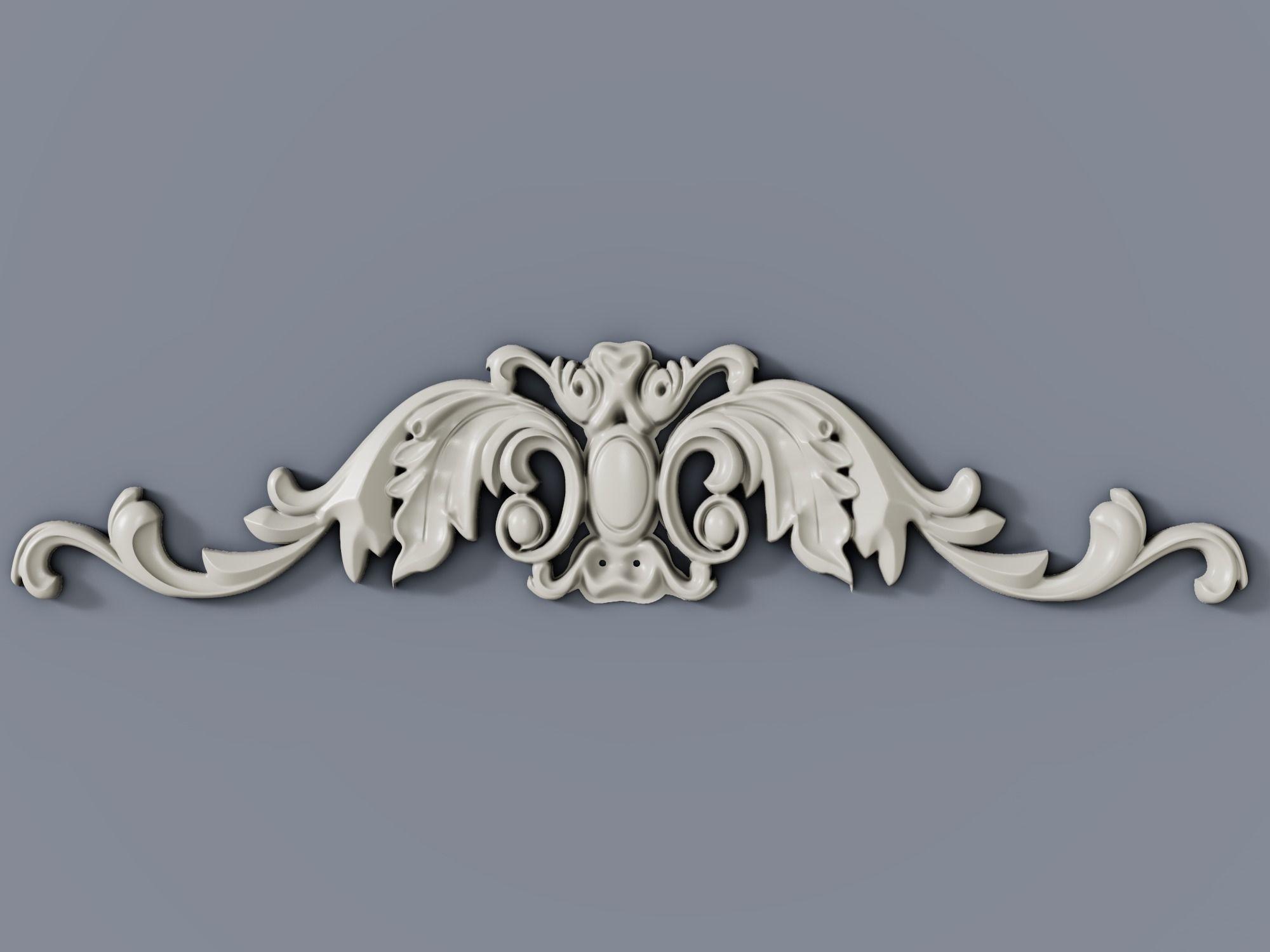 Classic baroque cartouches element  015