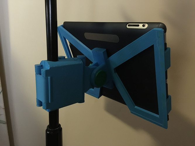 3d Printable Model Snap Clip Folding Ipad Microphone Stand