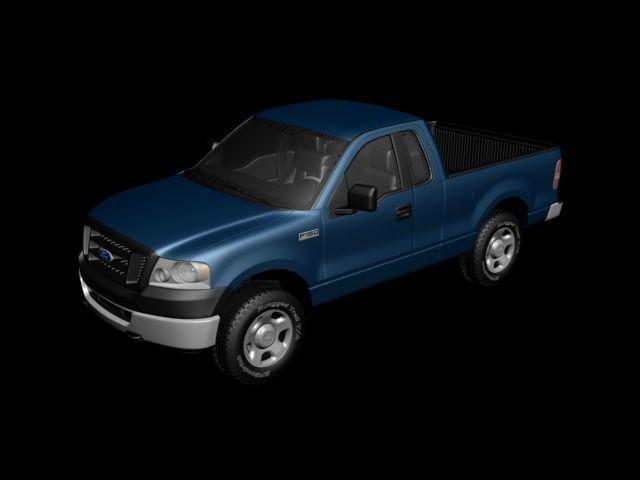 f150 regularcab 2006 3d model max 1