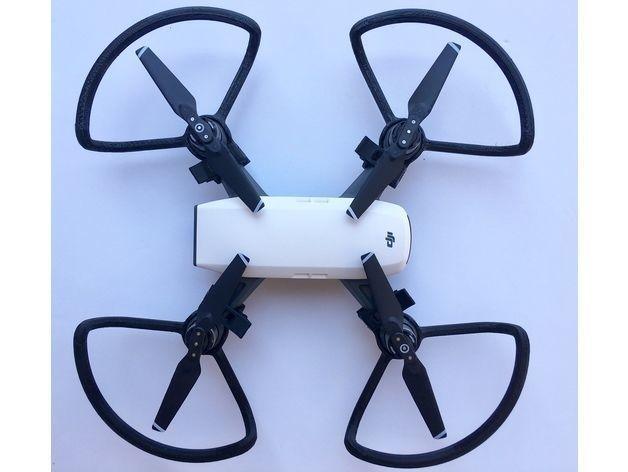 Propeller guard for dji spark quadrocopter