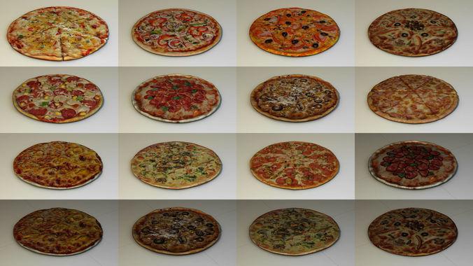 pizza pack 3d model max obj mtl 3ds fbx ma mb 1