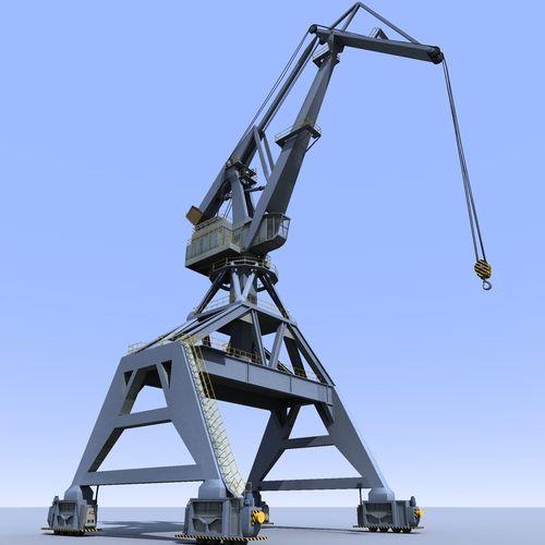 crane gray for shipyard cargo terminal or port 3d model obj mtl 3ds fbx lwo lw lws stl dae 1